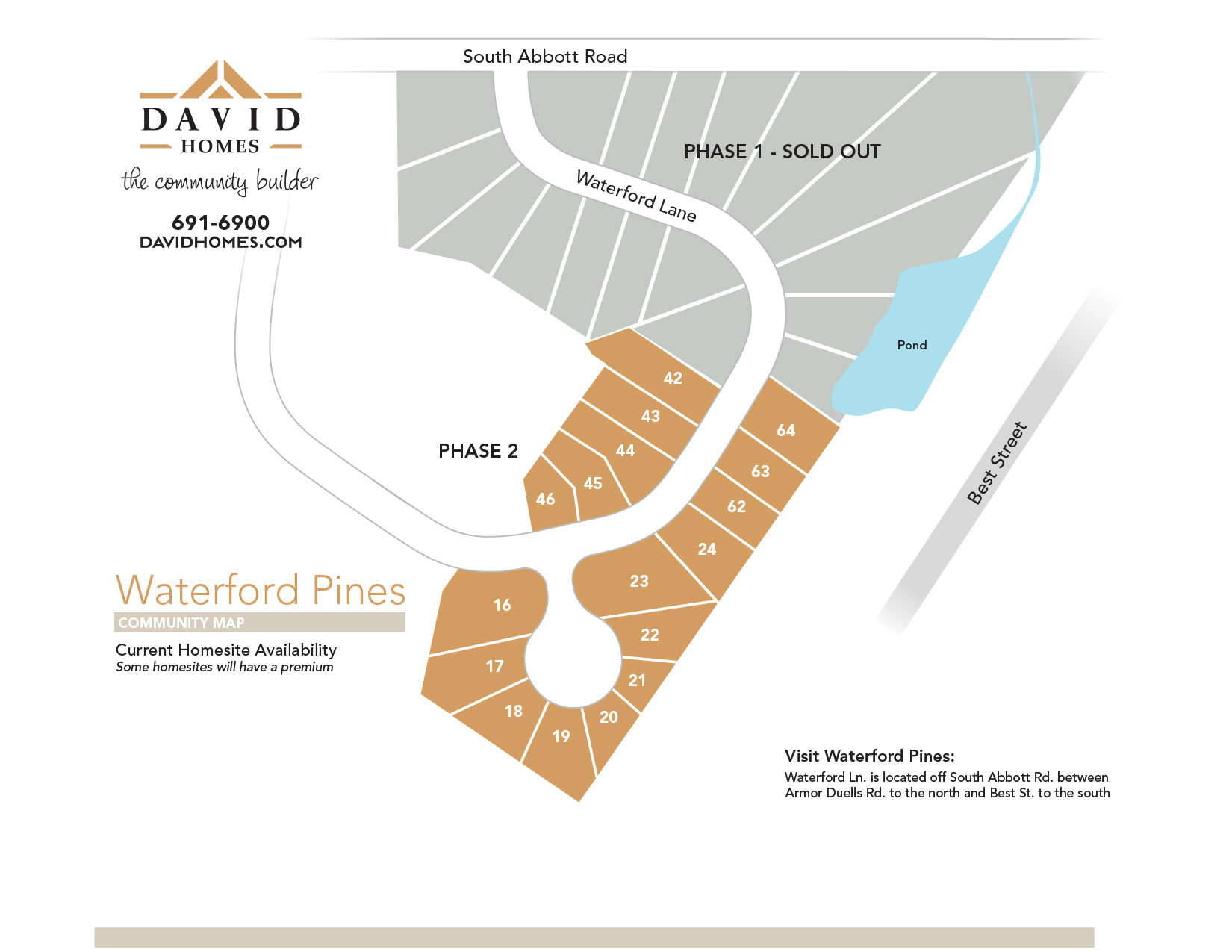 Waterford Pines Homesite map -click to view